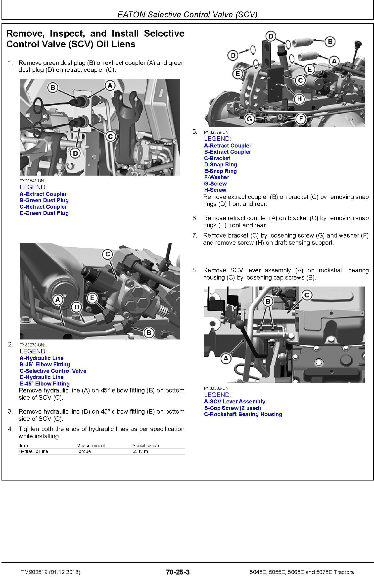 John Deere 5045e  5055e  5065e  5075e Tractors  Sn 103101