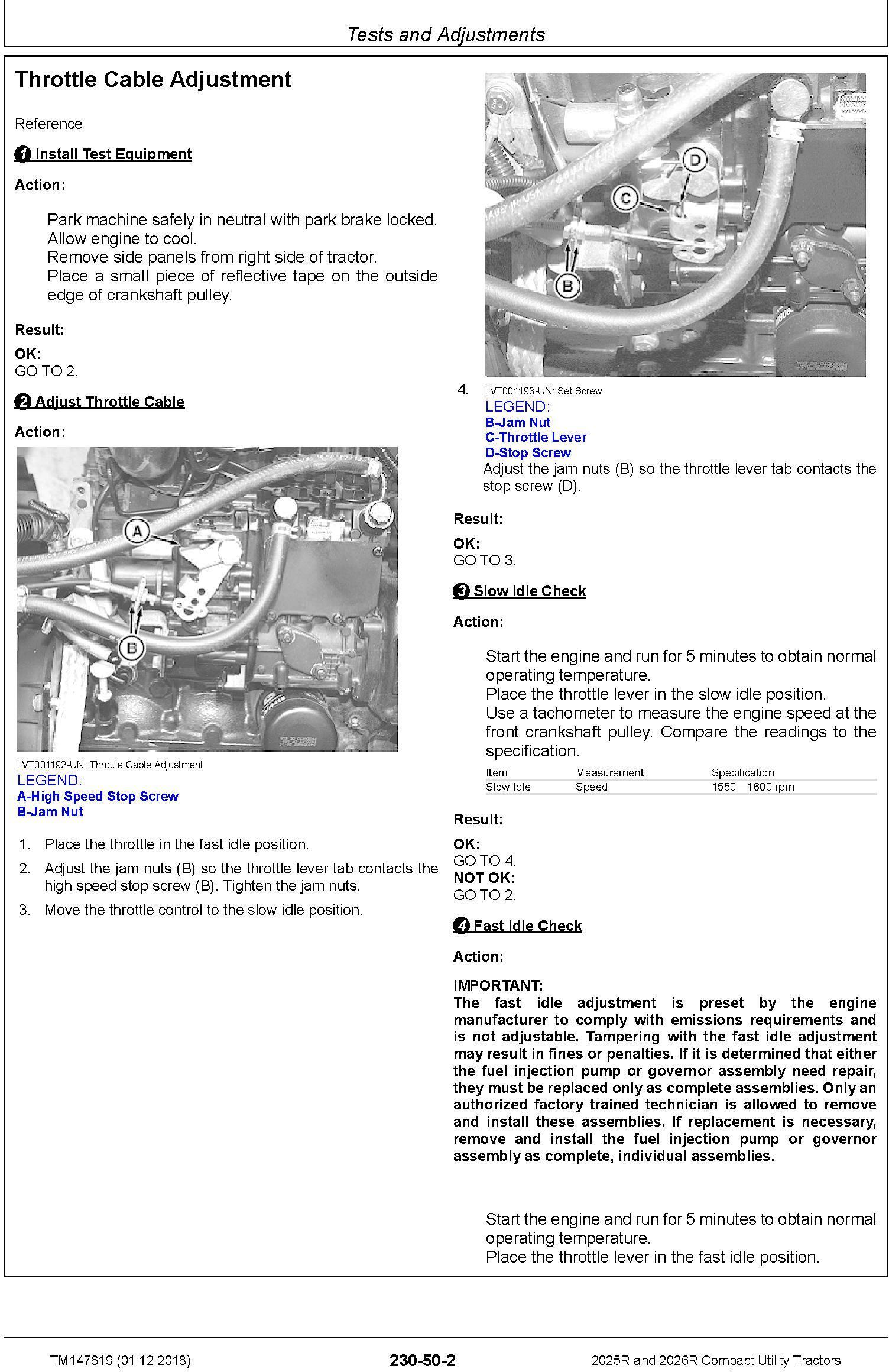 John Deere 2025r  2026r Compact Utility Tractors  Sn