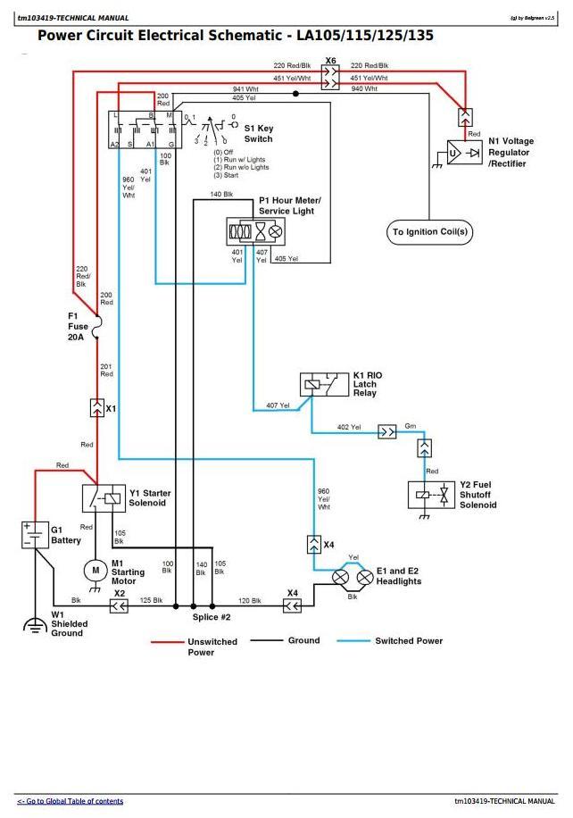 John Deere 314 Wiring Diagram from www.deeremanuals.com