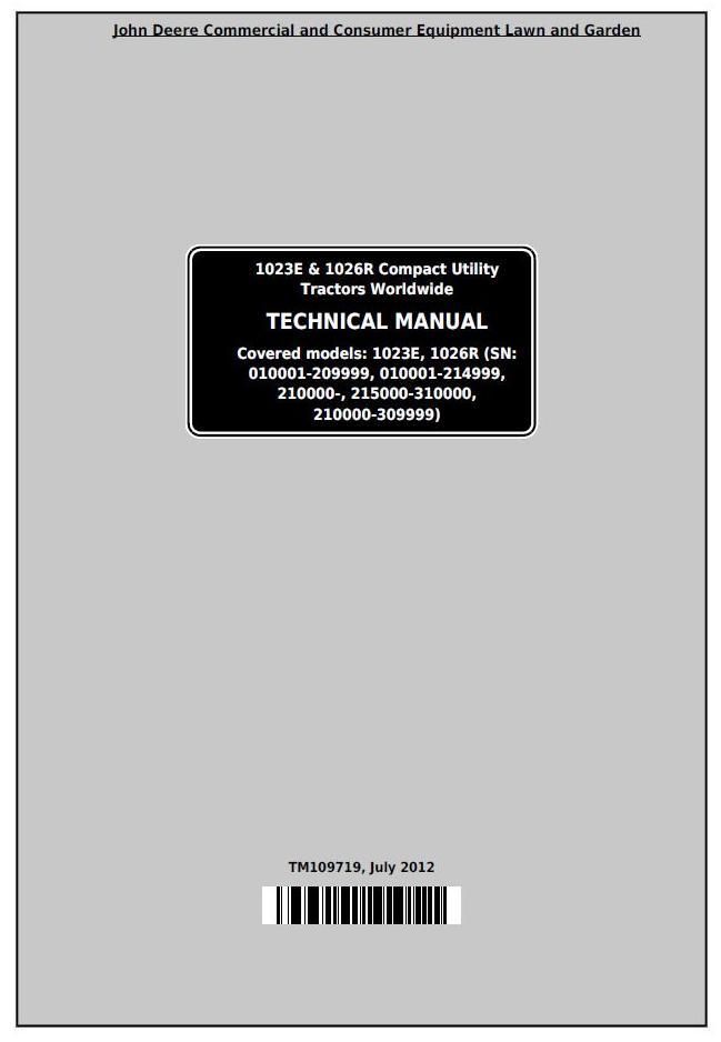 John Deere 1023e Mower Deck Manual Manual Guide